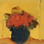 2003, Vase vert avec rouge, oil on canvas, 10x10 inches