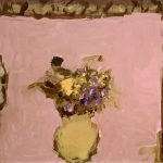 2005, Fleurs jaune et violet, oil on canvas, 18x20 inches
